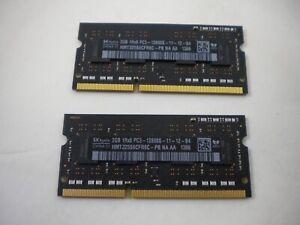 4GB 2x 2GB DDR3 Memory PC Laptop MacBook Pro 1Rx8 PC3 12800S 1600 MHz SODIMM RAM