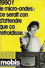 Publicité advertising 1985 Magasins TV Hi Fi Meubles ménager Mobis