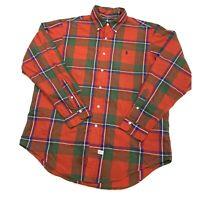 Vintage 80s 90s Polo Ralph Lauren Button Down Shirt Mens Large Beautiful Plaid