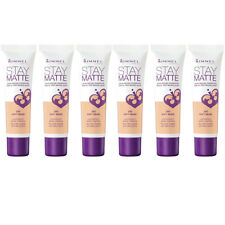 NEW Rimmel Stay Matte Liquid Mousse Foundation Soft Beige 1 Ounce (6 Pack)