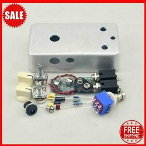 Diy Fuzz Face Pedal Kit Clone Pcb Guitar Effects Pedal And Pre-Drilled Enclosure