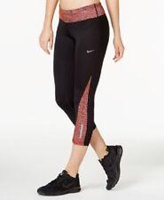 Nike Racer Dri-FIT Cropped Leggings Hyper Orange/Reflective Silver Size Large