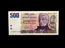 Argentinien (P316) 500 Pesos Argentinos 1984 UNC