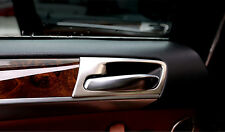 2008-2014 For BMW X6 E71 Steel Door Inner Handle Bowls Cover Trim Matte 4pcs