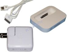 Genuine Apple iPod Classic 1 To 7 Charger, Dock And FireWire Cable 3 Piece Combo