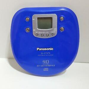 Panasonic SL-CT470 personal CD player blue compact disc