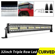 "Tri-Row 32 inch 585W Curved LED Light Bar Spot Flood Truck Offroad 32"" For Ford"