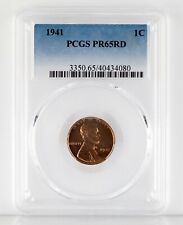 1941 1C Lincoln Wheat Cent Proof Graded by PCGS as PR65RD. Gorgeous Penny