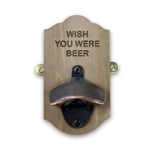 Wall Mounted Personalised Beer Bottle Opener - Secret Santa Christmas Gift