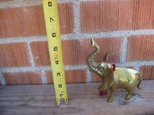 "Vintage 5 1/2"" Height * Elephant with Trunk Up * Brass Figurine Korea"