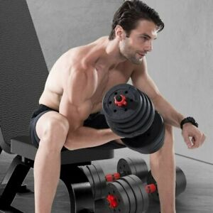 Adjustable Dumbbell Set 10/20/30/40KG Weight Barbell GYM Exercise Home Fitness