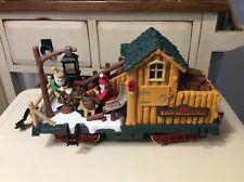NEW BRIGHT Holiday Express Train Log Mill Wood Car No. 380-4