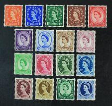 CKStamps: Great Britain Stamps Collection Scott#292-308 Mint H OG
