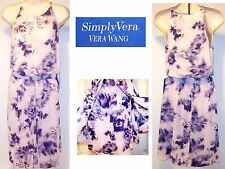 NEW $68 Tag SIMPLY VERA WANG Pink & Purple SM Flowering Desert Silky Soft Dress