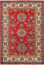3x5 Hand-Knotted Kazak Carpet Tribal Red Fine Wool Area Rug D57191