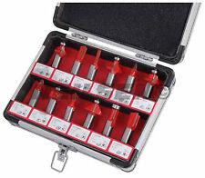 "12 Pieza 1/2 ""conjunto de caña brocas en caja de aluminio-Cola De Milano Cove Ogee"