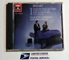 MOZART:SONATAS PIANO & VIOLIN Vol.1 - ZIMMERMANN & LONQUICH - CD