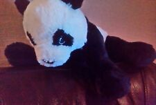 Ikea Kramig Panda Bear Soft Plush Cuddly BLACK white Comforter Toy teddy
