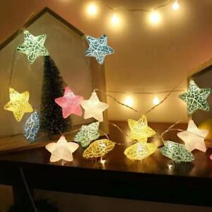 20pc Christmas String Decoration Lights LED Big Star Light Multi Colour 4m Long