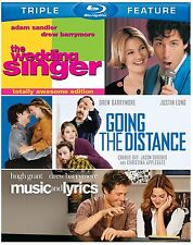 WEDDING SINGER/ GOING THE DISTANCE /MUSIC & LYRICS - Blu Ray -Sealed Region free