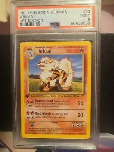 PSA 9 Pokemon 1. Edition 1st German Arkani Arcanine 23/102 not shadowless Base