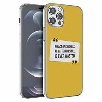 For Apple iPhone 12 Mini Silicone Case Peace Yellow Quote - S1781