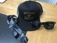 Jack Daniels Tennessee Honey Cap. Jack Daniels Lanyard & Fire Sunglasses