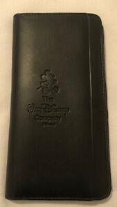 "LEEDS Black Faux Leather Organizer/Passport Holder With Pen""Walt Disney Company"""