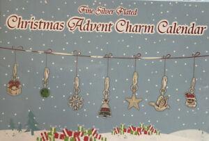 Fine Silver Plated Christmas Advent Calendar  1 Bracelet 23 Charms Sealed