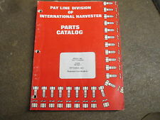 International Harvester 560 Pay Loader Parts Manual