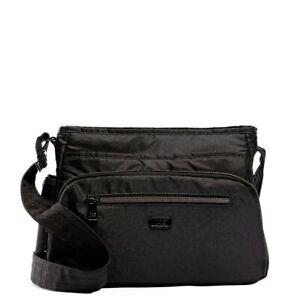 New Lug Travel SHIMMY Crossbody Convertible RFID  Bag SHIMMER BLACK gift