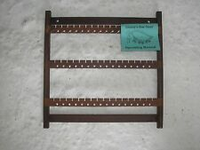 WOOD EARRING RACK 123 WENGE  WALL MOUNT
