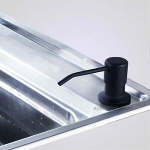 Black ABS Bottle Kitchen Sink Hand Pump Soap Washing Up Liquid Dispenser E577
