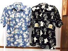 2 Men's Campia  Hawaiian Shirts Both Size M 100% Cotton Short Sleeve Multi-color