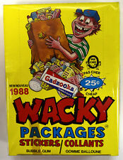 1988 Wacky Packages Sticker Box RARE OPC O-Pee-Chee Version