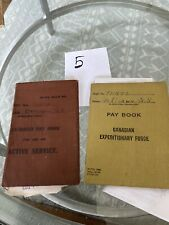Ww1 Canadian Expeditionary Force Paybook Brown X2