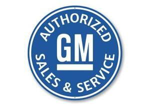 Authorized GM Sales and Service Car Sign, Mechanic Sign, Garage Aluminum Sign