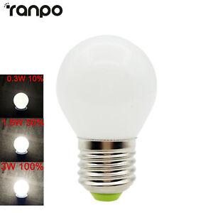 3W Three-Stage Dimming LED Light Bulbs E27 E12 B22 110V 220V White Lamp For Home