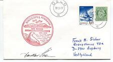 1977 Den Norske Antarktisekspedisjonen Bouvetoya Polar Antarctic Cover SIGNED