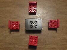 LEGO Duplo-rouge 4 chaises et 1 marron Table-GMT63