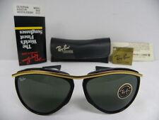 New Vintage B&L Ray Ban Olympian Aviator Arista Gold Black W0641 Sunglasses USA