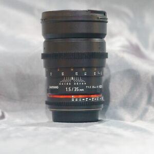 Samyang Rokinon Cine EF 35mm t/1.5 Lens