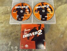 Driver 2 (Sony PlayStation 1, 2000) Discs and Manual - Tested