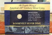 America's 20th Century Silver Coins - 1962 Roosevelt Silver Dime Coin