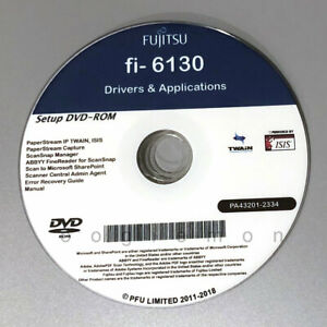 Setup DVD for Fujitsu fi-6130 - Driver Installation APP Software - Windows