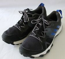 ADIDAS ~ TR8 Kanadia Black Running Shoes Sneakers Blue Trim US 5 UK 4.5 EU 37.5