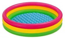 "Swimming Pool Kids Children Colorful Inflatable 58""x13"" 3 Rings Round Ages 2+"