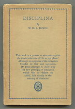 DISCIPLINA. W. H. S. Jones. CAMBRIDGE UNIVERSITY PRESS. hcdj 1ST, 1926
