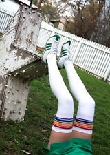 Thigh High Rainbow Striped Tube Socks SEXY! T1-35