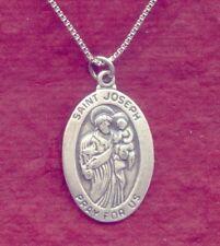 St Joseph Necklace Sterling Silver 925 Charm Pendant N Chain Patron Saint Worker